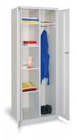 Kleider-/ Wäscheschrank mit Mitteltrennwand und glatten Türen Anthrazit RAL 7016