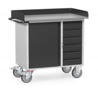 Werkstattwagen Grey Edition mit Abrollrand / 1 Schrank und 6 Schubladen