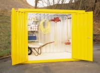 Mehrpreis für Lackierung+Vormontage für Materialcontainer, nur mit Holzfußboden