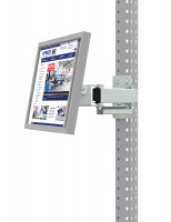 Monitorträger für PROFIPLAN Werkbänke Lichtgrau RAL 7035 / 75