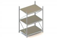 Weitspann-Grundregal mit Spanplattenböden, Höhe 2200 mm, 3 Ebenen 1502 / 1050