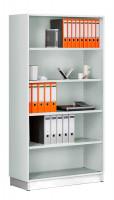 Modufix Büroanbauregal Topangebot, HxBxT: 2225 x 800 x 420 mm Lichtgrau