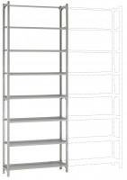 REGISTRA Archiv Standard Einfach-Grundregal, beidseitige Nutzung, Höhe 1900-2600 mm 2600 / Beidseitig (Längsverbinder)