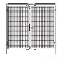 Zweiflügelige Tür für Trennwand-System Maschinenschutz 1980
