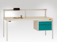 Grundarbeitstischgestell UNIDESK 2000 / Lichtgrau RAL 7035