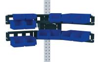 Cockpit Boxenträger-Element mit Einfach oder Doppelträger für MULTIPLAN Arbeitstische Anthrazit RAL 7016 / Doppelträger