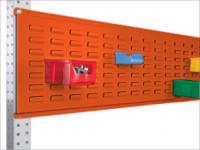 Werkzeug-Schlitzplatten für Stahl-Aufbauportale Rotorange RAL 2001 / 1750