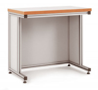 Grundpulttisch ALU Linoleum 22 mm für sitzende Tätigkeiten 1000 / 800