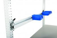 Boxenträgerschiene für Werkbank PROFI 1250 / Lichtgrau RAL 7035