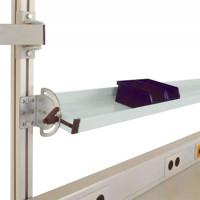 Neigbare Ablagekonsolen für Alu-Aufbauportale Lichtgrau RAL 7035 / 1250 / 345