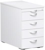 Standcontainer 1 Utensilienschub, 4 Schubfächer / Weiß