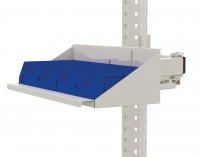 Sichtboxen-Regal-Halter-Element für MULTIPLAN / PROFIPLAN Lichtgrau RAL 7035