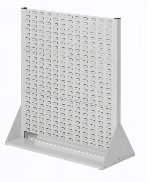 Stellwand mit Sichtlagerkästen, Doppelseitige Nutzung, Höhe 1100 mm