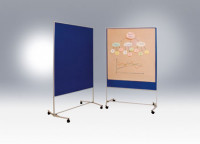 Moderationswände - unsere Einstiegsmodelle Weiß / Metalltafel