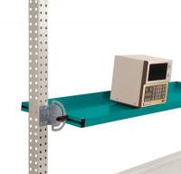 Neigbare Ablagekonsolen für Stahl-Aufbauportale Wasserblau RAL 5021 / 1500 / 195