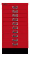 Schubladenschrank mit 10 Schubladen für DIN A3 Kardinalrot