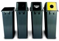 Hoher Push-Deckel für Kunststoff-Wertstoffsammler