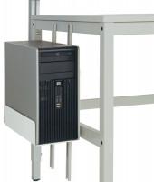 CPU-Halter für ALU-Arbeitstische Lichtgrau RAL 7035