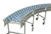 Scheren-Röllchenbahnen mit Stahlröllchen 1200 - 4400 / 300