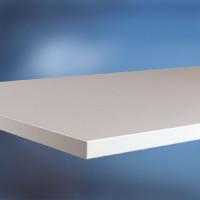 Arbeitstischplatte Linoleum nickelgrau 22 mm 2000 / 800