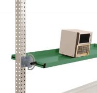 Neigbare Ablagekonsolen für Stahl-Aufbauportale Resedagrün RAL 6011 / 1250 / 195