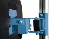 Monitor-Halter für Aufbausäule E-LINE, VESA 75/100 mm Brillantblau RAL 5007