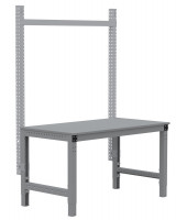 MULTIPLAN Stahl-Aufbauportale ohne Ausleger, Grundeinheit Lichtgrau RAL 7035 / 1000