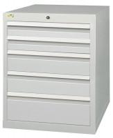 Schubfachschrank MAXTEC stationär, 2 x 100 , 2 x 150 , 1 x 200 mm Vollauszug 100%, 180 kg / Enzianblau RAL 5010