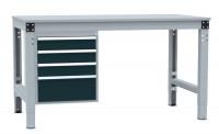 Schubfach-Unterbauten PROFIPLAN, 3x 100, 1x 200 mm Anthrazit RAL 7016
