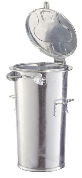 Stahlblech-Mülleimer, für staubfreie Entleerung