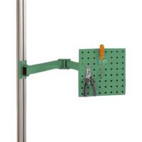 Werkzeugträgerplatten mit Doppelgelenk Schwenkausleger Resedagrün RAL 6011 / 700