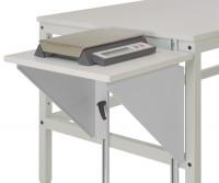 Höhenverstellbarer Tischansatz UNIVERSAL Alusilber ähnlich RAL 9006 / 800