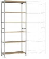 Leichte Fachboden Grundregale PLANAFIX Standard mit Holzböden, beidseitige Nutzung 600 / 2500