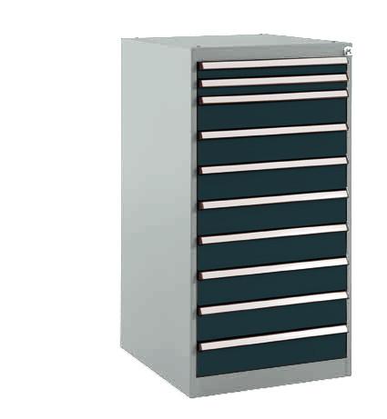 Schubfachschrank BASETEC stationär, 2 x 50, 8 x 100 mm