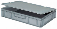 Scharnierdeckel für Euronorm-Transport-Stapelbehälter Weiß / 600 x 400
