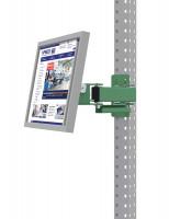 Monitorträger für MULTIPLAN / PROFIPLAN, Doppelgelenk 500 mm Resedagrün RAL 6011 / 100