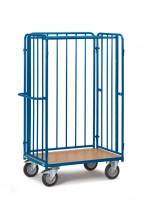 Paketwagen aus Stahlrohr 1 Boden/3 Wände / 1000 x 700