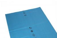 Abfallsäcke, LDPE mit 120 Liter Volumen Blau / 70