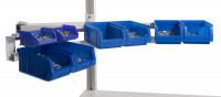 Gebogenes Boxenträger-Element für CANTOLAB & ALU Lichtgrau RAL 7035 / Einfachträger