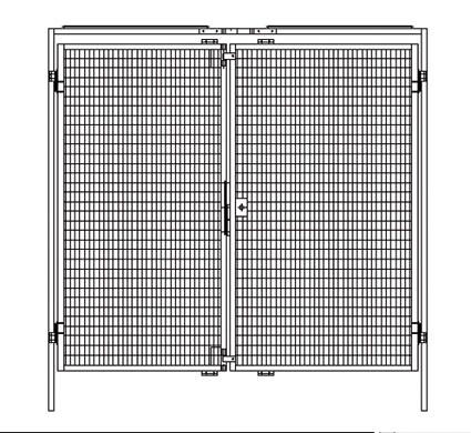 Zweiflügelige Tür für Trennwand-System Maschinenschutz