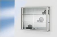 Wandvitrine mit Aluminiumprofil 590 x 800 x 120