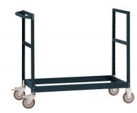 Leichter Grundrahmen für Etagenwagen Varimobil, HxB 950 x 800 mm Anthrazit RAL 7016 / 1500 x 800