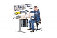 Elektr. höhenverstellbarer Montagetisch E-LINE 200, Multiplex-Tischplatte 22 mm, geölt 2000