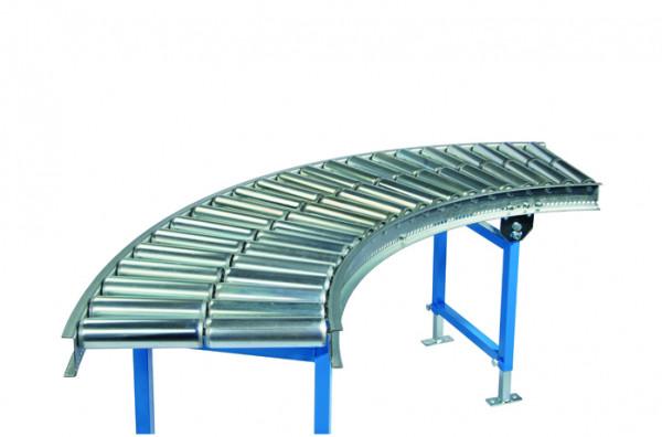 Kurven für Leicht-Stahlrollenbahnen, Bahnbreite 600 mm