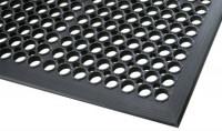 Offene antibakterielle Bodenmatte, nicht Ölbeständig, Schwarz 5940