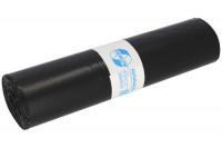 Abfallsäcke, LDPE mit 120 Liter Volumen Schwarz / 60