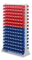 Stellwand mit Sichtlagerkästen, Doppelseitige Nutzung, Höhe 1790 mm 240 x Gr. 2