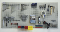 Werkzeug-Lochplatten zur Wandbefestigung Lichtgrau RAL 7035 / 1500