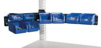 Cockpit Boxenträger-Element mit Einfach oder Doppelträger für MULTIPLAN Arbeitstische Anthrazit RAL 7016 / Einfachträger