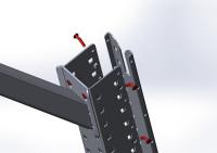 Aufbausäulen-Deckel MULTIPLAN 720 / Lichtgrau RAL 7035